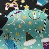 【お仕立代込】クリスマスモチーフ手描九寸染め名古屋帯